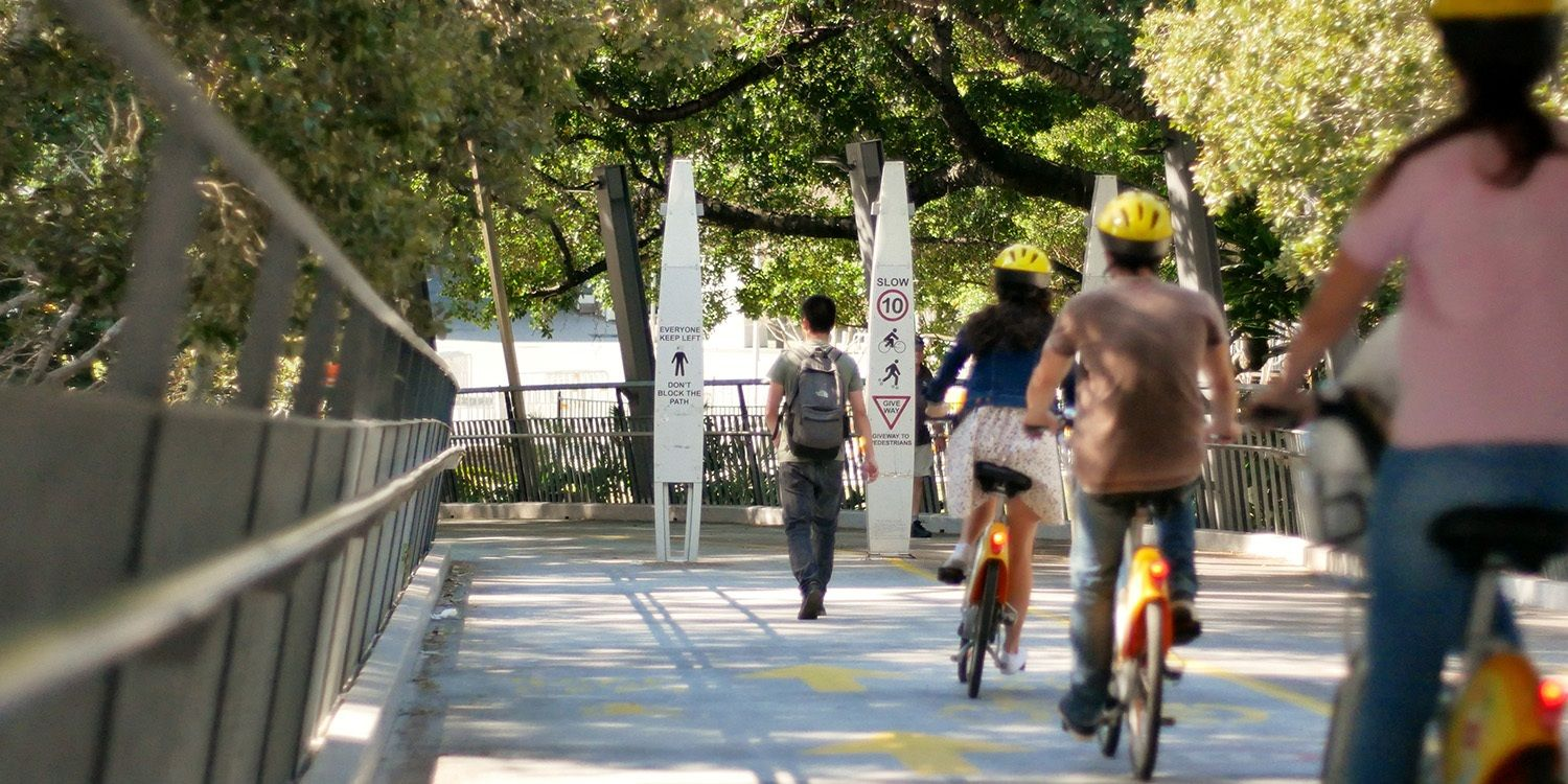 SGS Economics and Planning active transport the goodwill bridge Brisbane