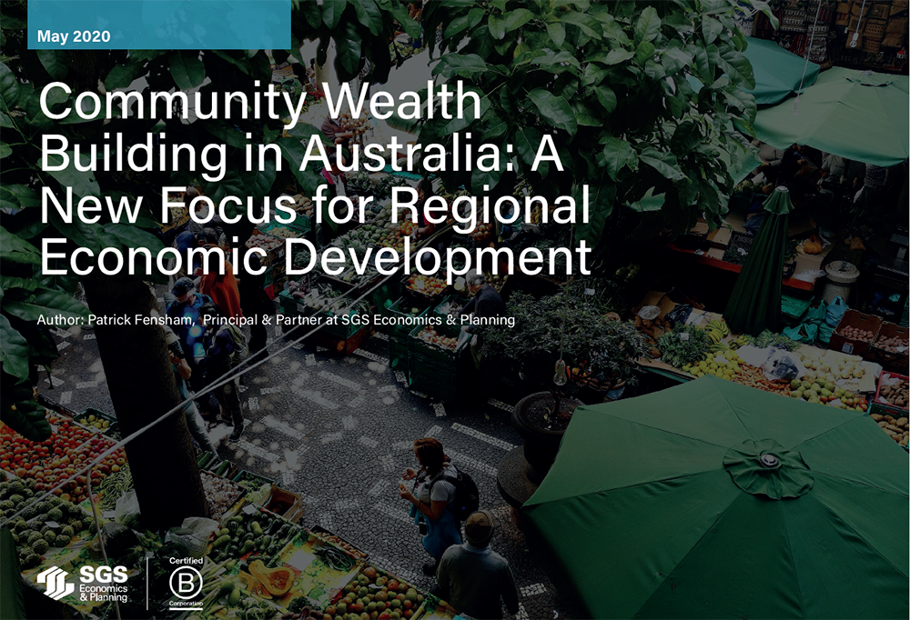 SGS Economics and Planning community wealth building paper