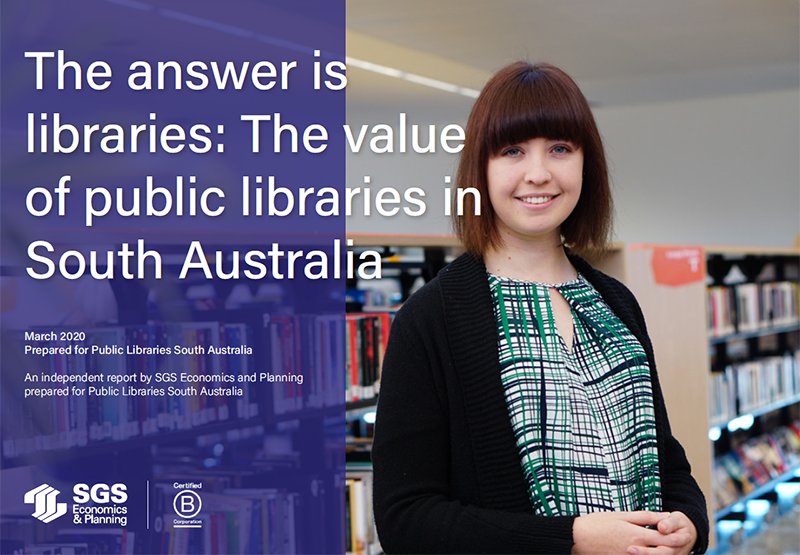 SGS Economics and Planning SA public libraries report cover image