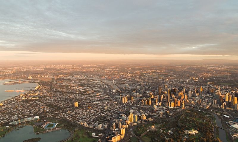 SGS Economics and Planning Melbourne Aerial View 800x480