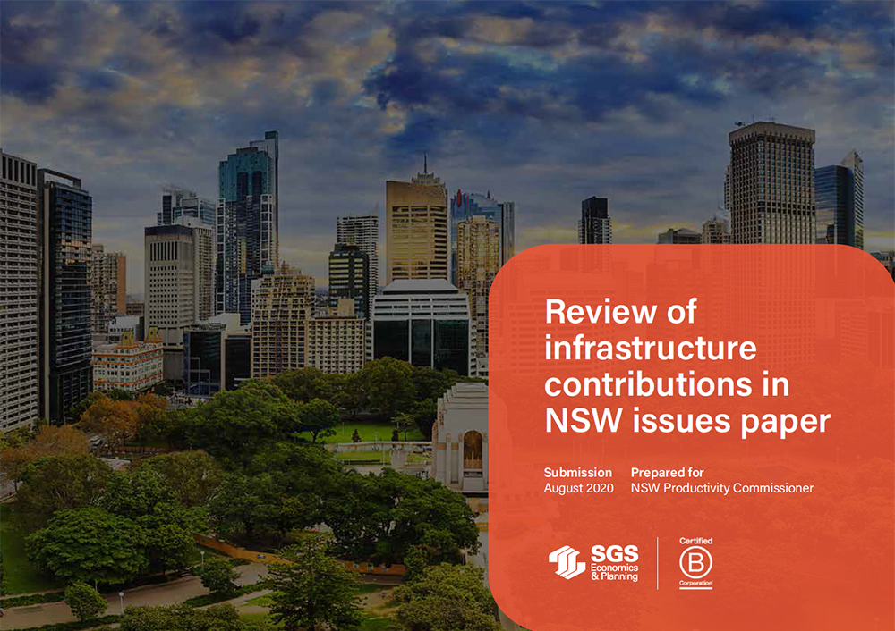 SGS NSW Infrastructure Contributions Review Paper cover