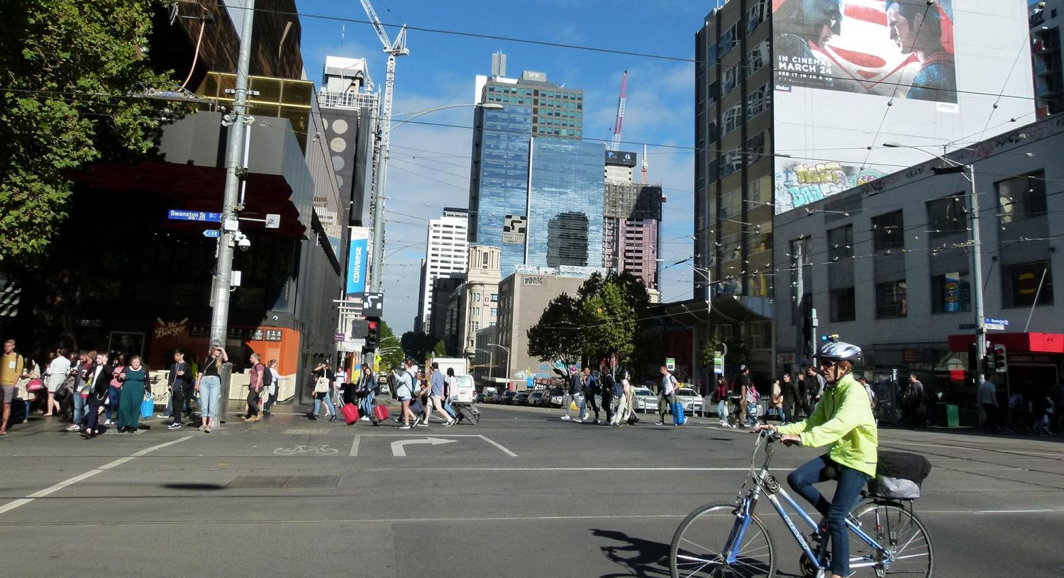 SGS Economics and Planning walking in the hoddle grid Melbourne